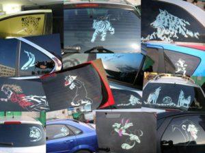 Фото некоторых примеров арт тонировки